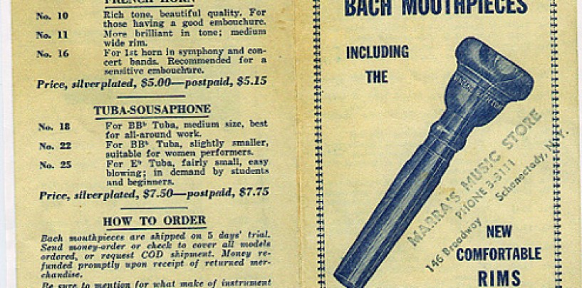 Bach Mouthpieces – Catalogs