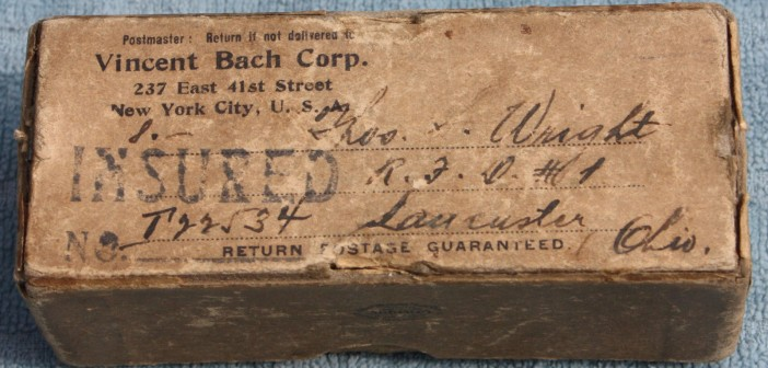 Bach Mouthpiece – Packaging (New York) 1924