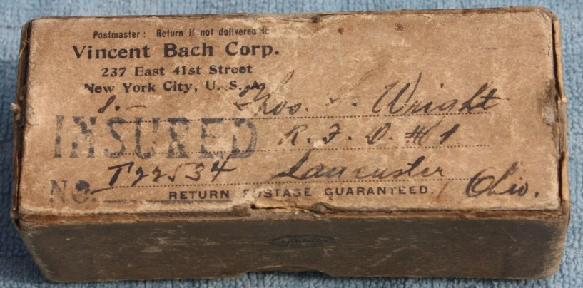 Bach Mouthpieces – Packaging (New York) 1924